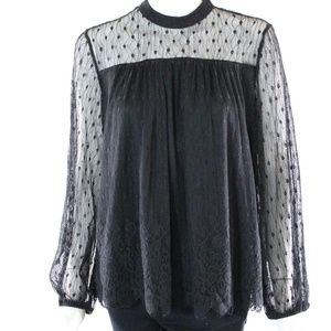 Anthropologie Altar'd State Black Lace Top - NWT